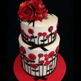 Black and Red themed Cake