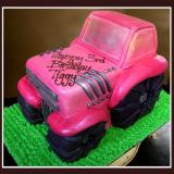 Pink Truck Cake