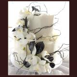 2 Tier White Wrap Cake