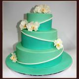 3 Tier Orchid Cake