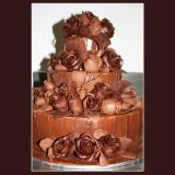 3 Tier Chocolate Roses Cake