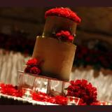 Chocolate Mud with red roses